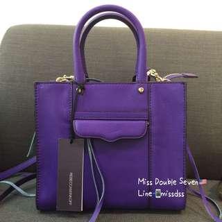 ✨Rebecca Minkoff✨side zip tote mini-紫色