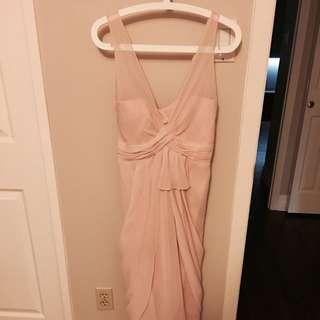 White By Vera Wang Chiffon Dress