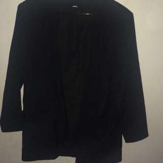 1x Black Blazer With Pockets