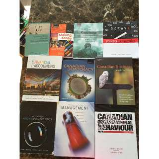 Textbooks - Management, English, Kinesiology, Sociology, Philosophy