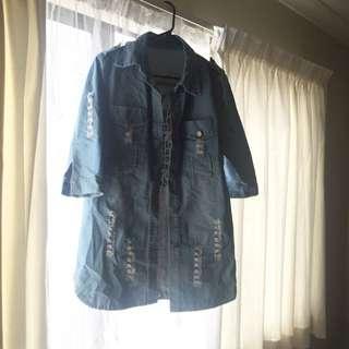 Rip Denim Jacket
