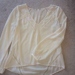 Sheer Guess Shirt With Lace Detail