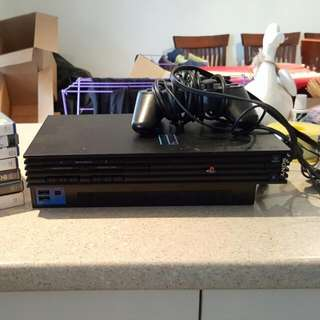 Playstation 2 + Controller + Eye Toy + Games