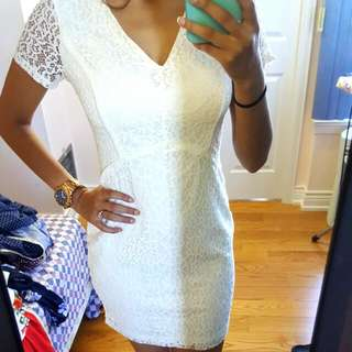 White Creamish Dress