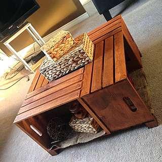 Handmade Crate Coffee Table