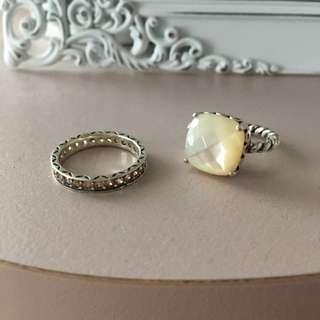 Pandora Inspired Rings (size 7)