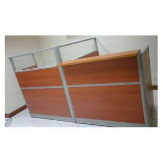 Office Partition*Office Furniture ((Customize)) (Laminate w/ glass Office Partition)
