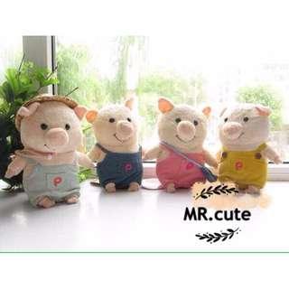 原單 日本 超紅 pig 童話故事系列 三隻小豬 娃娃 公仔 擺飾 生日禮物 交換禮物 聖誕禮物