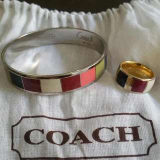 Coach Bangle & Ring Set