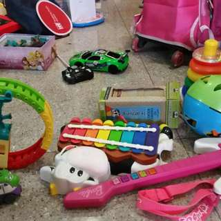 Variety Of Toys Trains Music Instruments
