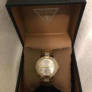 Gold Link Guess Watch