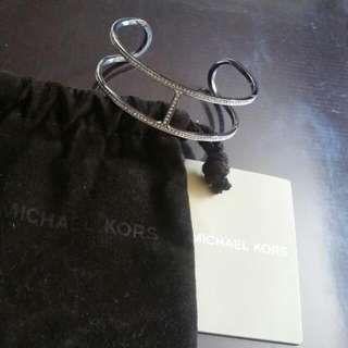 Michael Kors Pave Silver Cuff