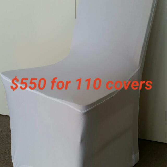 110 X White Spandex Chair Covers