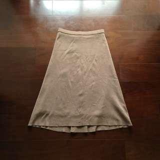 咖啡牛奶棉質中長裙