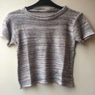 Knitted Crop Tee
