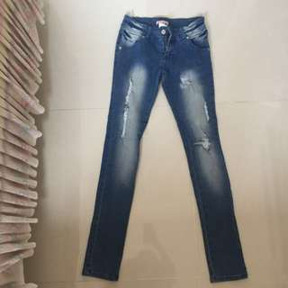 Supre Ripped Denim Skinny Jeans