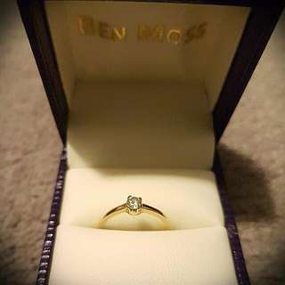 Diamond Solitaire Ring In Yellow Gold