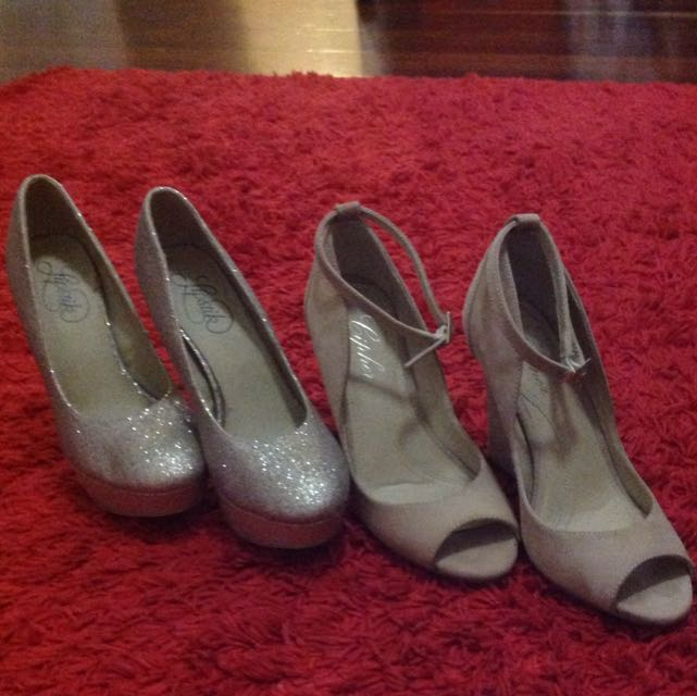 15 Dollars Each Or Both For 25 Dollars. Size 37 Wedge And Other 6.5