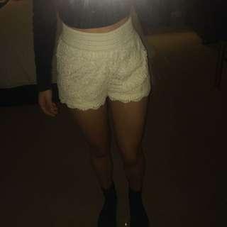 Sportgirl White Lace Shorts