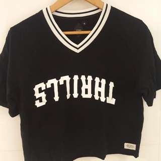 Thrills Cropped Tee Size 8