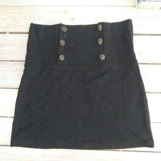 High Waisted Black Skirt