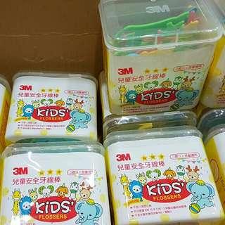 (現貨)3M 兒童安全牙線棒(盒裝)二盒入