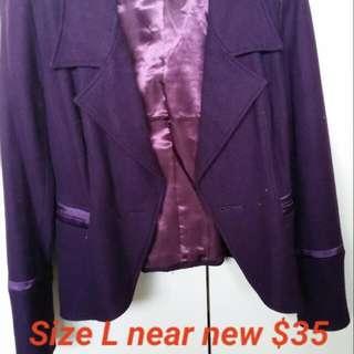 Jacket Blazer Purple
