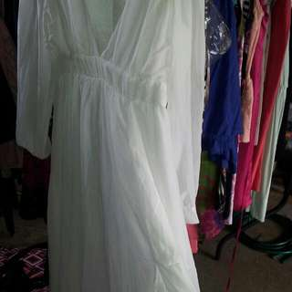 White Sexy Maxi Dress