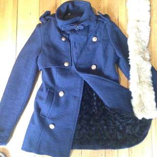 Navy Lined Wool Jacket