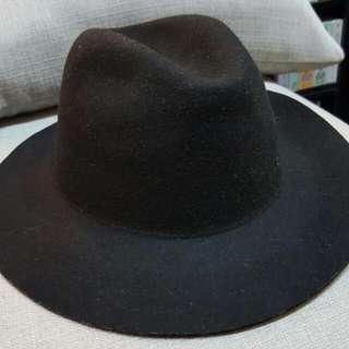 秋冬時尚配件毛呢紳士帽 帽子 黑色 男女