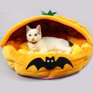 可愛蝙蝠南瓜可拆柔軟舒適兩用床窩/睡窩