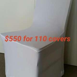 110 X White Spandex Chair Covers