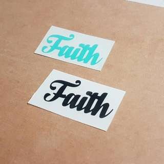 Customised Decal/ Sticker/ Quotes / Faith / Laptop / Names