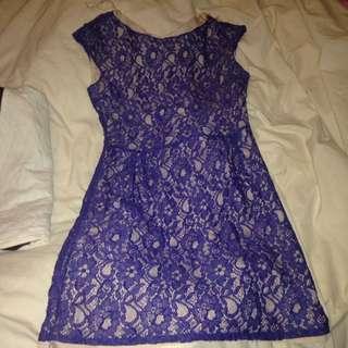 Blue Lace Dress Size 12