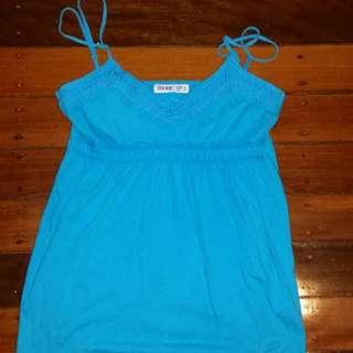 Blue Top Size 8