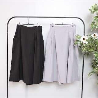 Zebra Crossing 設計打折褲裙 (灰色)