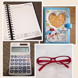 New🍁Diary, Calculator and Glasses