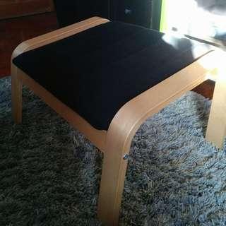 POÄNG Footstool, birch veneer, Ransta black