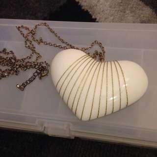 Huge Heart Shape Statement Necklace