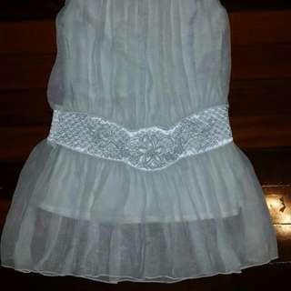 Cream, White Dress Size 8-10 Uk