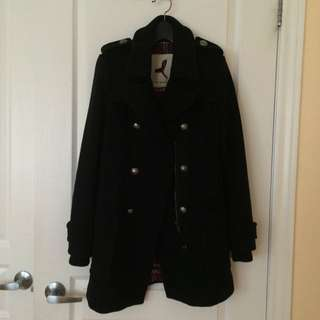 XS Community (Aritzia) Military Style Wool Coat / Jacket