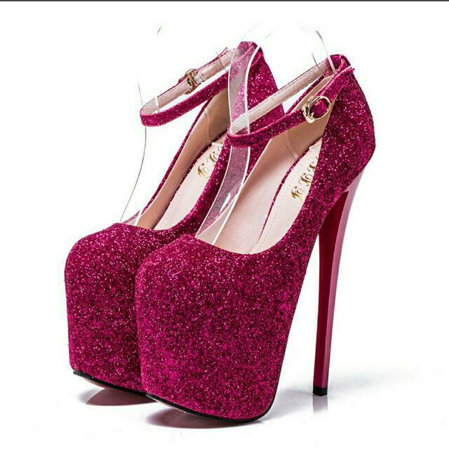 新款20公分超高細跟高跟鞋 大尺碼34-43碼 三色