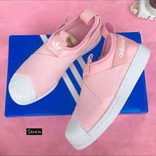 Adidas Slip On 粉色 現貨尺寸23、235、24、245 正品實拍 台灣公司貨