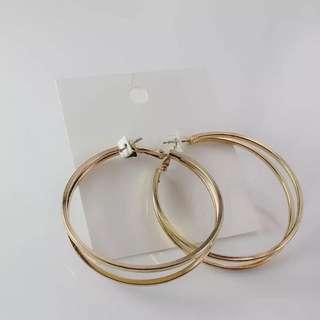 【現貨】H&M復古雙圈耳環