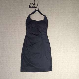 TIGHT FITTED THICK FABRIC BLACK SHEIKE DRESS
