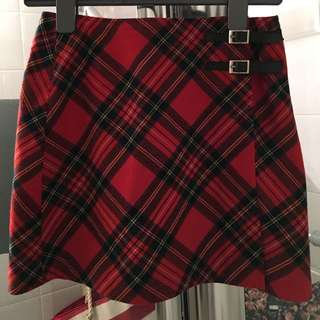 Roots Plaid wool Skirt