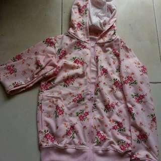 Jacket Pink Bunga-bunga