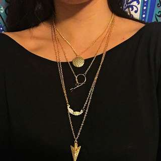 Layered Arrowhead Necklace