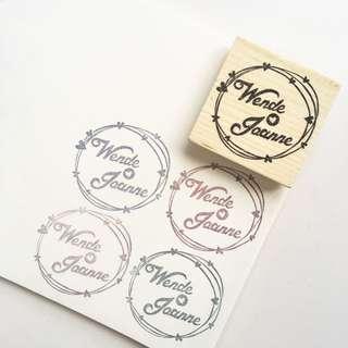 Customized Handmade Wedding Rubber Stamp / Custom Made / Floral / Carved / Handicraft / Wedding Needs Essentials