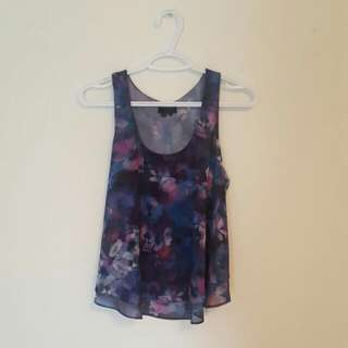 Chiffon Floral Top From Guess